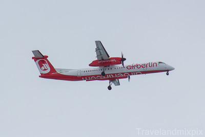 D-ABQS Eurowings de Havilland Canada DHC-8-402Q Dash 8 Glasgow Airport 03/02/2018 operated by LGW - Luftfahrtgesellschaft Walter, wearing Air Berlin livery