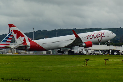 C-GHPE Boeing 767-333(ER) Air Canada Rouge Glasgow Airport 26/07/2016