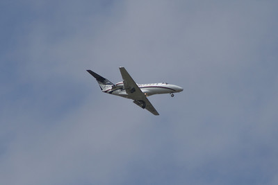 An Air Charter Scotland Cessna 525A Citation CJ2 (G-EDCM) on approach to Glasgow Airport