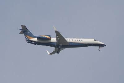 An Air Charter Scotland Embraer EMB-135BJ Legacy (G-WCCI) on the approach to Glasgow Airport. It is  now privately owned by TRN LLC of Houston.