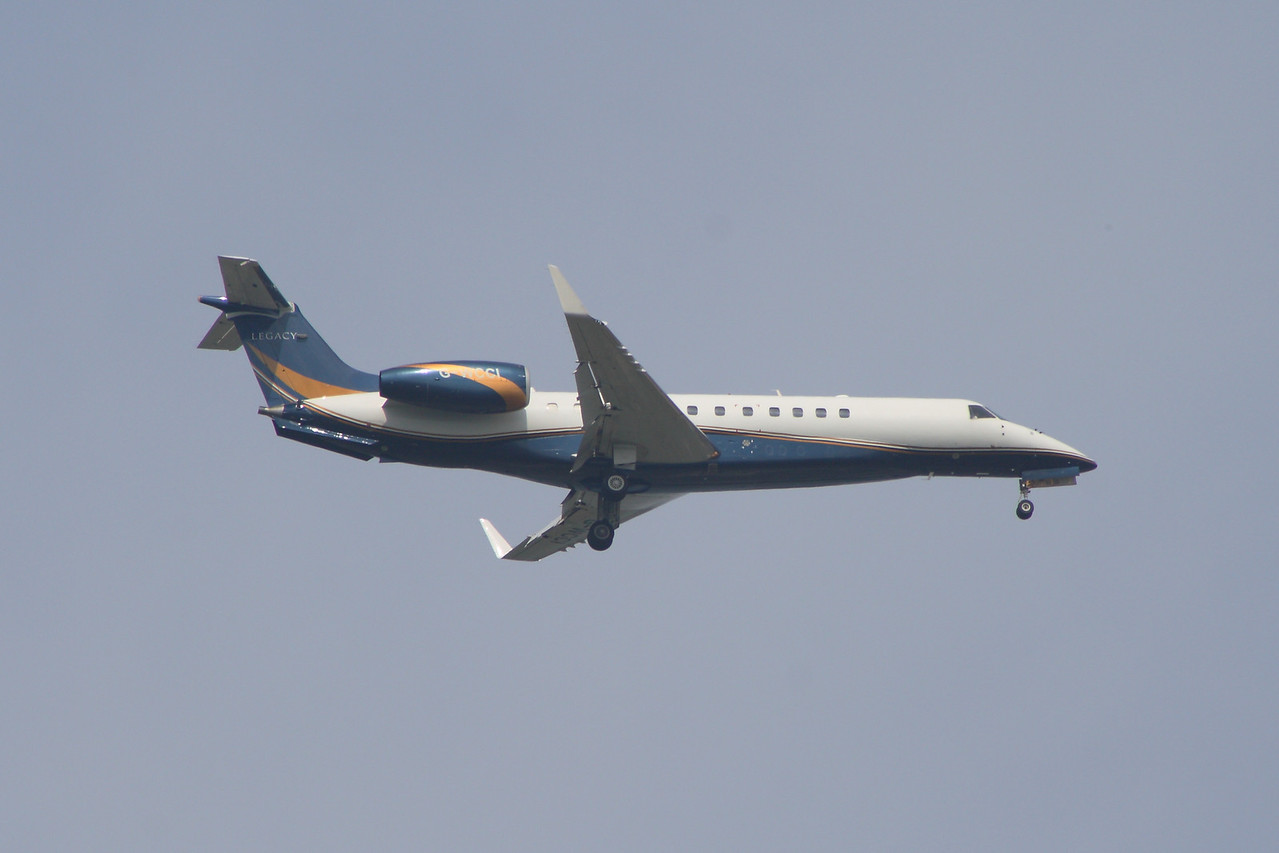 G-WCCI An Air Charter Scotland Embraer EMB-135BJ Legacy (G-WCCI) on the approach to Glasgow Airport.