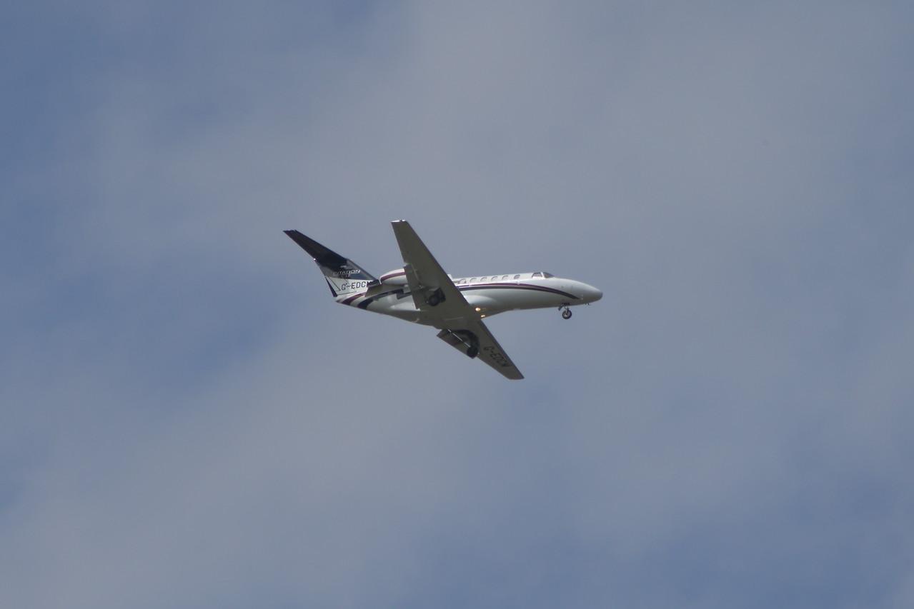 G-EDCM An Air Charter Scotland Cessna 525A Citation CJ2 on approach to Glasgow Airport