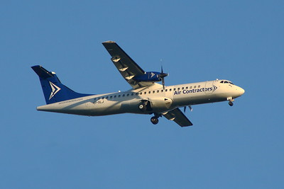 EI-SLJ Air Contractors ATR 72-201(F) Glasgow Airport 27/08/2014 Operating a service on behalf of FedEx Express