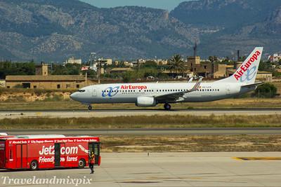 EC-LXV Air Europa Boeing 737-85P Palma de Mallorca Airport 04/07/2017
