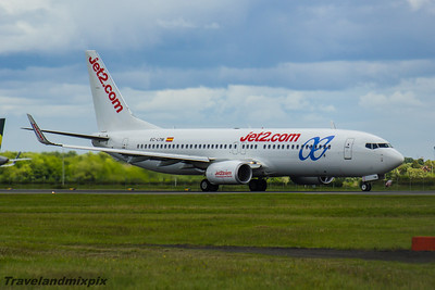 EC-LTM Air Europa Boeing 737-85P Glasgow Airport 05/07/2016 Operating for Jet2, leased from Air Europa May 2016 to October 2016