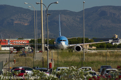 EC-JBL Air Europa (TUI fly Belgium) Boeing 737-85P Palma de Mallorca Airport 04/07/2017 Being prepared for transfer from Air Europa to TUI fly Belgium. It joined the TUI fly Belgium fleet 3 days later, entering service in August 2017 as OO-TUP