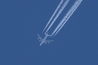 An Air France Airbus A380-861 (F-HPJC) on a service from Paris Charles de Gaulle to San Francisco at 36,000 feet