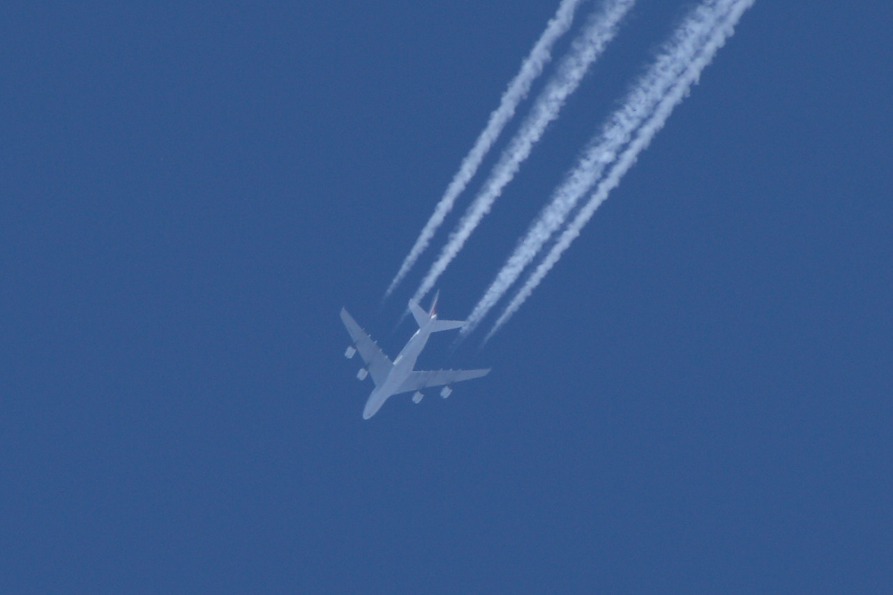 F-HPJC An Air France Airbus A380-861 on a service from Paris Charles de Gaulle to San Francisco at 36,000 feet