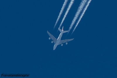 F-HPJB Air France  Airbus A380-861  On a service from Paris Charles de Gaulle to Los Angeles LAX at 34,000 feet.