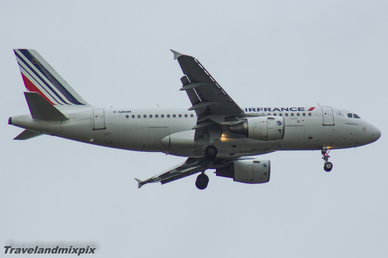 F-GRHM Airbus A319-111 Air France Glasgow Airport 13/05/2016