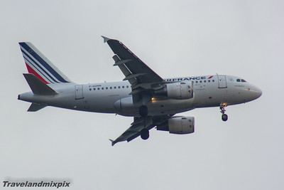 F-GUGN Airbus A318-111 Air France Glasgow Airport 31/03/2016