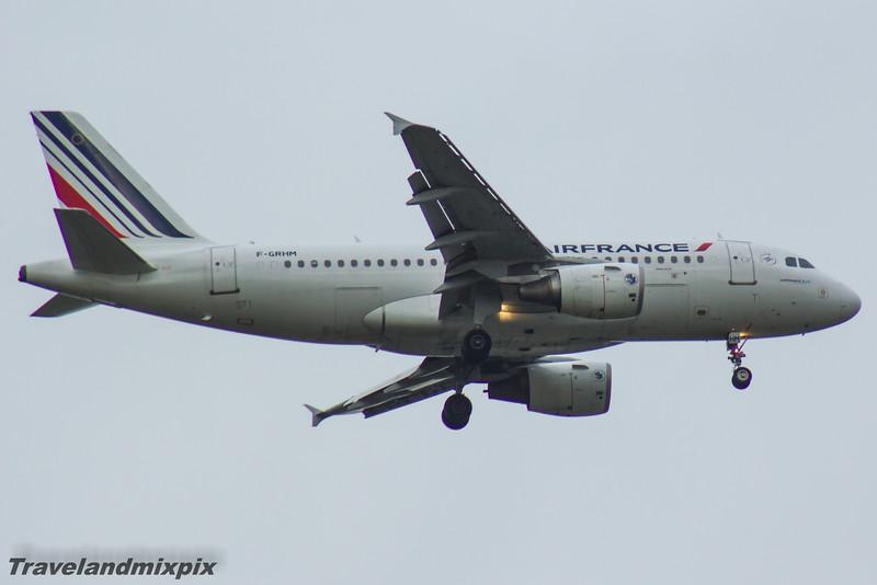 F-GRHM Airbus A319-111 Air France Glasgow Airport 13/05/2016