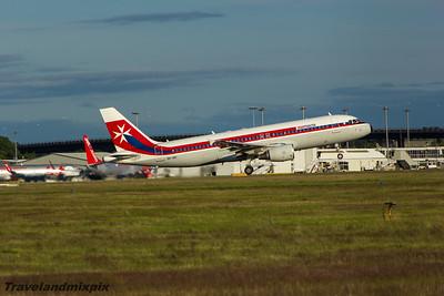 9H-AEI Air Malta Airbus A320-214 Glasgow Airport 14/07/2015 Air Malta retro colour scheme.