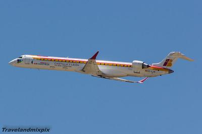 EC-LJS Air Nostrum (Iberia Regional)  Canadair CL-600-2E25 Regional Jet CRJ-1000  Malaga Airport 27/06/2015