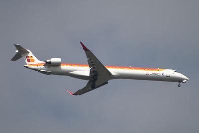 EC-LOJ An Air Nostrum (Iberia Regional) Canadair CL-600-2E25 Regional Jet CRJ-1000 on approach to Glasgow Airport