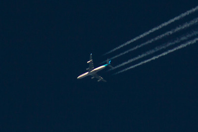 F-OLOV Air Tahiti Nui Airbus A340-313 04/12/2016 On a service from Paris Charles de Gualle to Los Angeles LAX