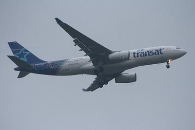 C-GPTS Air Transat Airbus A330-243 Glasgow Airport 17/09/2014