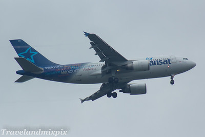 C-FDAT Air Transat Airbus A310-308 Glasgow Airport 22/07/2017