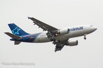C-GLAT Air Transat Airbus A310-308 Glasgow Airport 23/03/2017