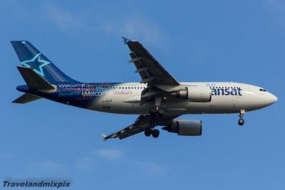 C-GLAT Air Transat Airbus A310-304 Glasgow Airport 09/05/2015