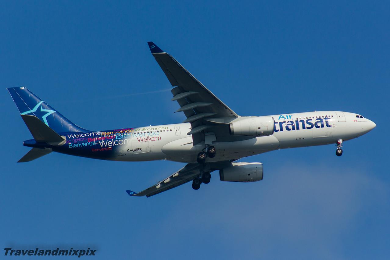 C-GUFR Air Transat Airbus A330-243 Glasgow Airport 17/08/2016