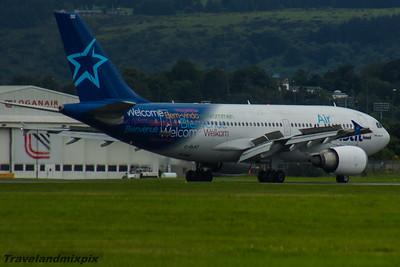 C-GLAT Air Transat Airbus A310-308 Glasgow Airport 27/07/2016