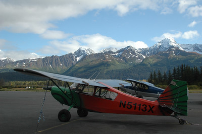 Planes at the Seward Airfield.