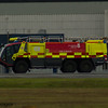Glasgow Airport Fire Tender 2, a Rosenbauer CA5 Panther of Glasgow Airport Fire Service on 26/06/2016 having a practice run up the runway in between fights