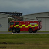 Glasgow Airport Fire Tender 5, a Scania 124C-420/Carmichael Viper of Glasgow Airport Fire Service on 26/06/2016 having a practice run up the runway in between fights