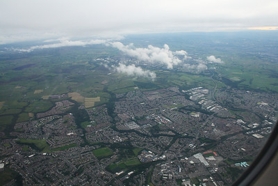 Hamilton, New Douglas Park towards the bottom right. In the distance is East Kilbride.