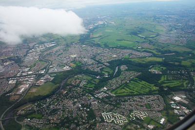 Bothwell and Blantyre. The David Livingstone Centre in the centre of shot.