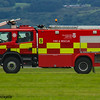 Glasgow Airport Fire Tender 5, a Scania 124C-420/Carmichael Viper of Glasgow Airport Fire Service on 26/07/2016 having a practice run up the runway in between fights