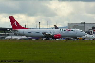 EC-LAV Boeing 737-408 AlbaStar Glasgow Airport 22/05/2016