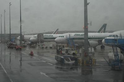 Alitalia Airbus A319-111's at Paris Charles De Gaulle Airport