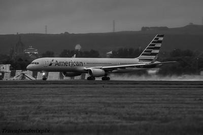 N204UW American Airlines Boeing 757-23N Glasgow Airport 04/07/2015