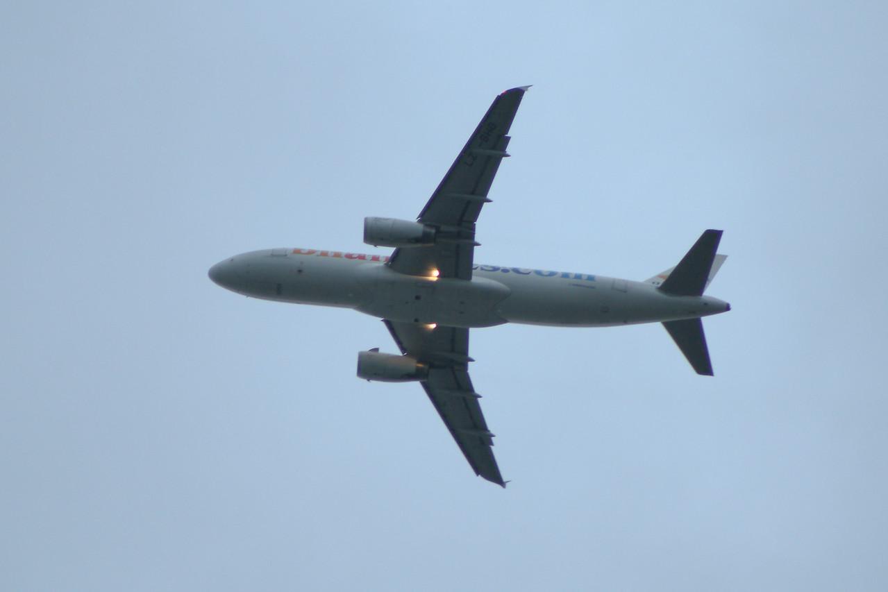 LZ-BHG A Balkan Holidays Air Airbus A320-232 departing Glasgow Airport