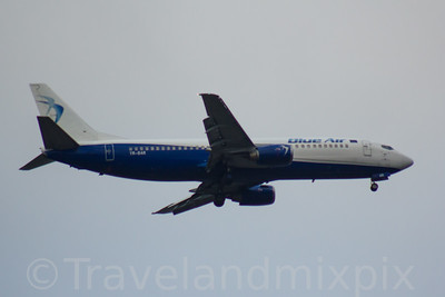 YR-BAR Blue Air Boeing 737-4Q8 Glasgow Airport 09/02/2017