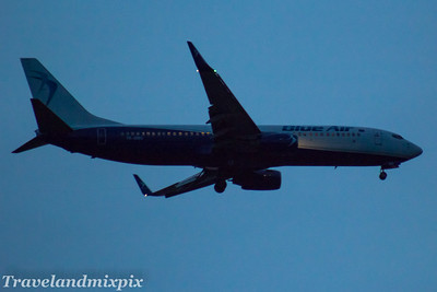 YR-BMG Blue Air Boeing 737-86N Glasgow Airport 20/06/2017