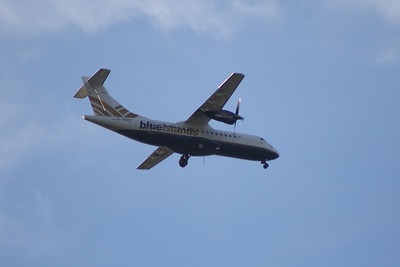 ATR ATR-42-320 (G-ZEBS) of Blue Islands on approach to Glasgow Airport