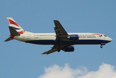 G-DOCZ British Airways Boeing 737-436 Glasgow Airport 25/08/2014 Withdrawn in December 2014