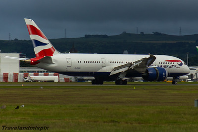 G-ZBJD Boeing 787-8 Dreamliner British Airways Glasgow Airport 26/06/2016