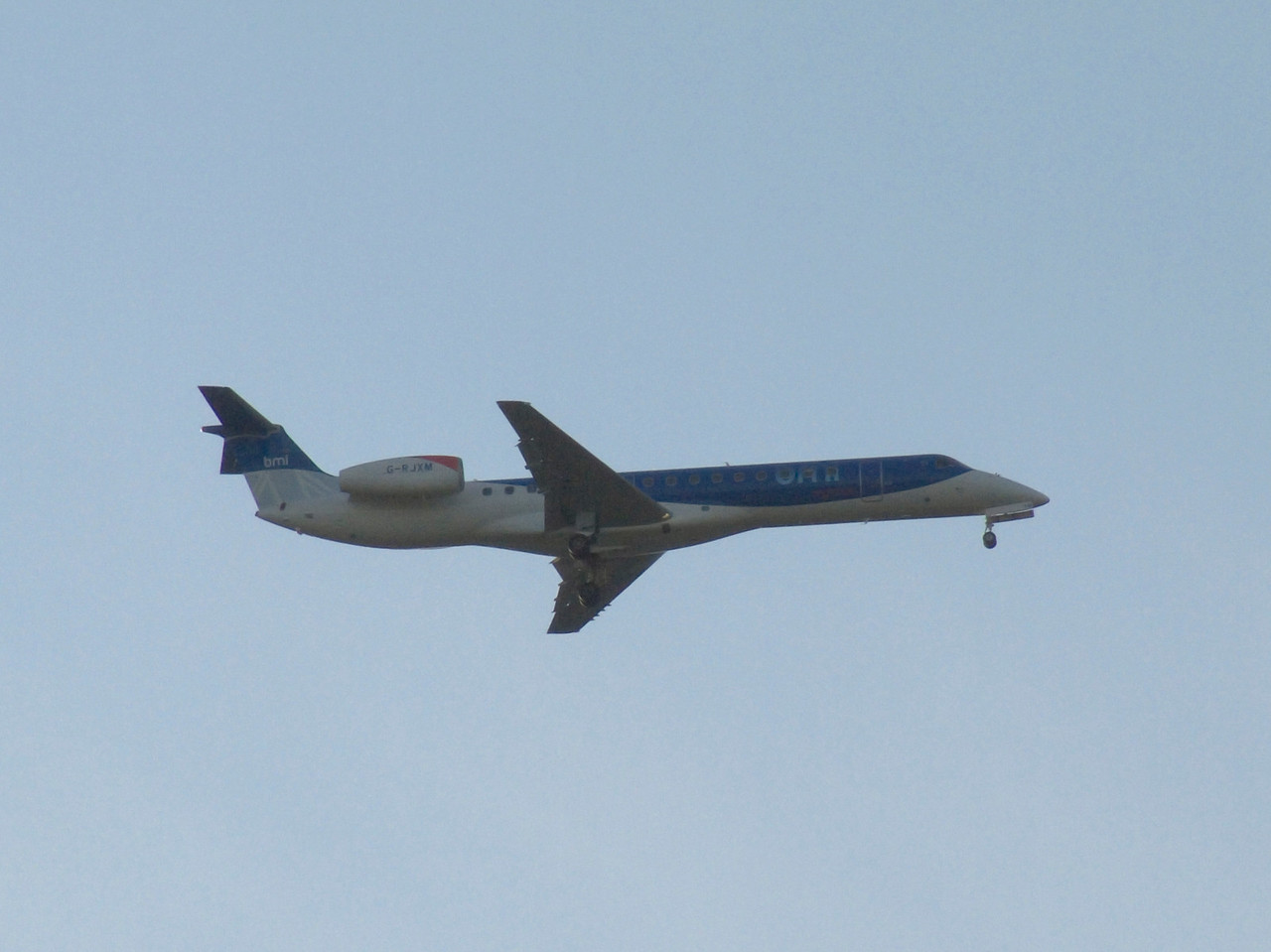 G-RJXM A BMI Regional Embraer EMB-145MP (ERJ-145MP) on approach to Glasgow Airport