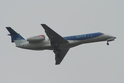 G-RJXK A BMI Regional Embraer EMB-135LR (ERJ-135LR) on approach to Glasgow Airport