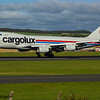LX-VCV<br> Cargolux Airlines International <br> Boeing 747-4R7F<br> Prestwick Airport<br> 06/09/2015<br> <i>This Cargolux B744F arriving on a scheduled service during the Scottish Airshow.</i>