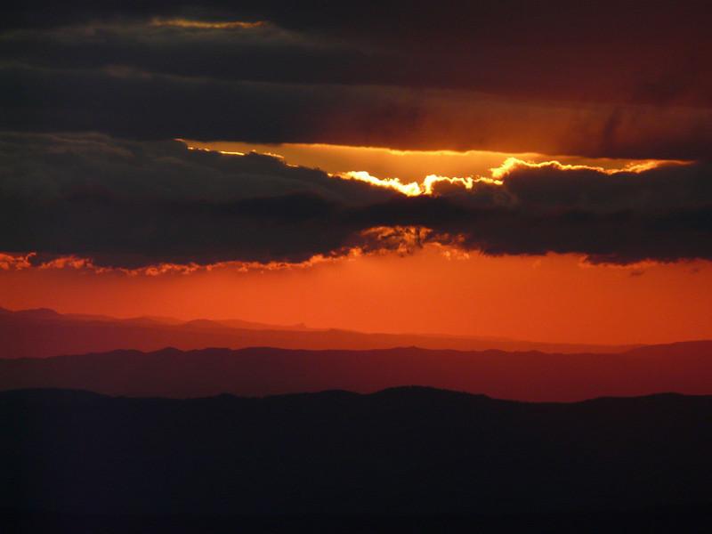 Lever de soleil à Montségur