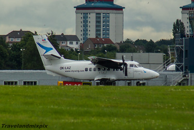 OK-LAZ Citywing Let L-410UVP-E Turbolet Glasgow Airport 26/07/2016 Operated by Van Air Europe of behalf of Citywing