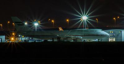 A6-MMM Dubai Air Wing Boeing 747-422 Glasgow Airport 24/08/2016