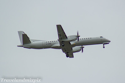 G-CDEB Eastern Airways Saab 2000 Glasgow Airport 16/09/2017