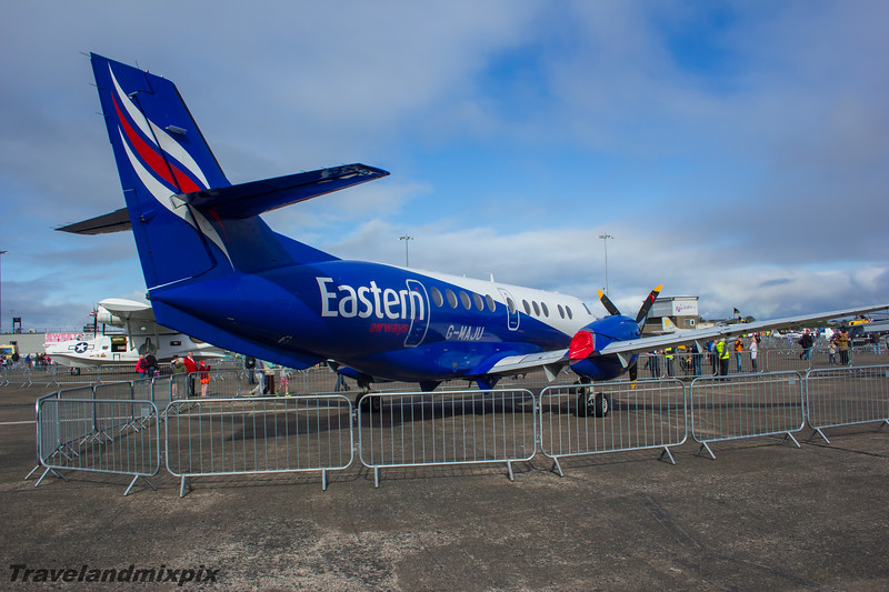 G-MAJU<br /> Eastern Airways<br /> British Aerospace BAe 4101 Jetstream 41<br /> Scottish Airshow<br /> Prestwick Airport<br /> 06/09/2015