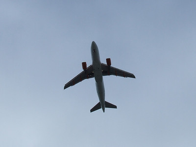 An Airbus A319-111 (G-EZEJ) on approach to Glasgow Airport. The aircraft was withdrawn in April 2011.